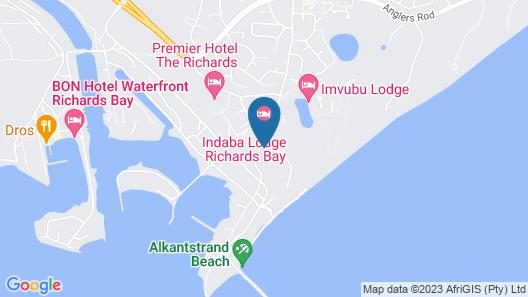 Indaba Lodge Richards Bay Map