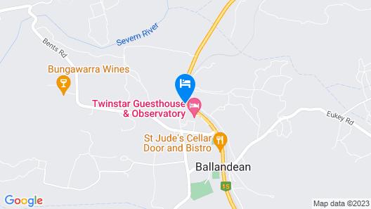 Vineyard Cottages Map