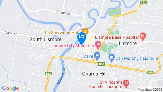 Comfort Inn Centrepoint Map