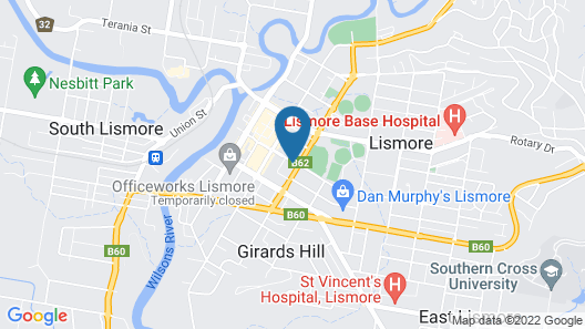 Lismore City Motor Inn Map