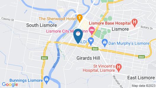 Lismore Bounty Motel Map