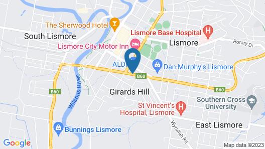 Lismore Gateway Motel Map