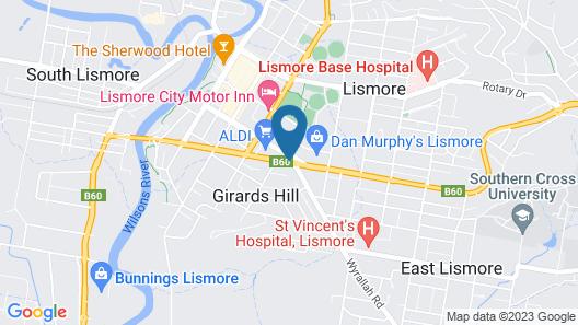 Lismore Wilson Motel Map