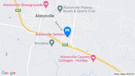 Alstonville Settlers Motel Map
