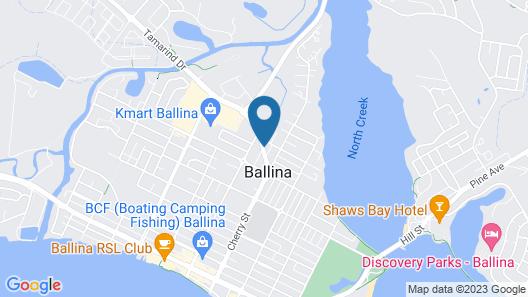 Ballina Colonial Motel Map