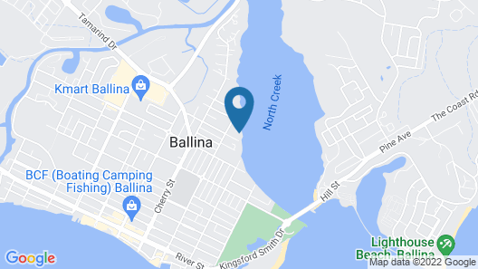 Tranquil tides ballina Map