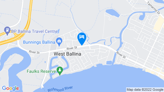 Ballina Byron Islander Resort and Conference Centre Map