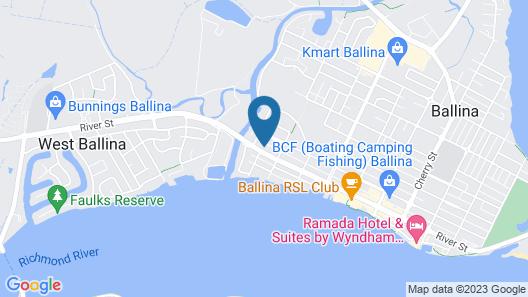 The Cubana Ballina Map
