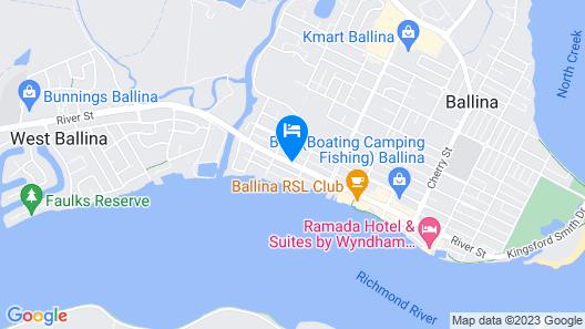 Coast Inn Motel Map