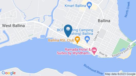 River Street Motel Map
