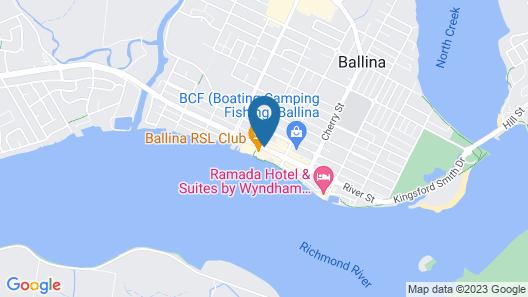 Ballina Heritage Inn Map