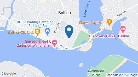 Ballina Manor Boutique Hotel Map