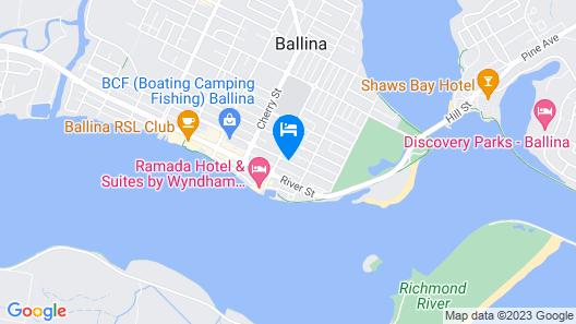 Ballina Travellers Lodge Map