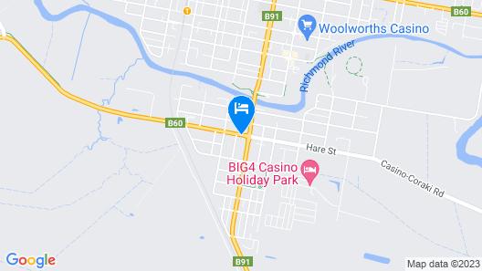 Casino Motor Inn Map