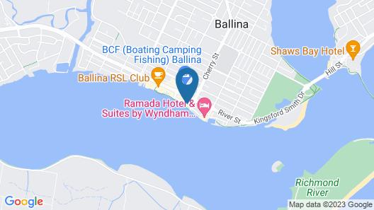 Riverside Holiday Apartments Ballina Map