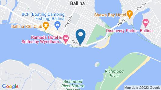 Reflections Holiday Parks Ballina Map