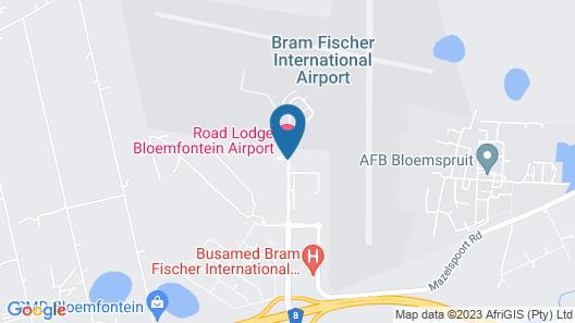 Road Lodge Bloemfontein Airport Map