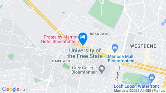 Protea Hotel by Marriott Bloemfontein Map