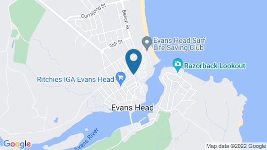Reflections Holiday Parks Evans Head Map