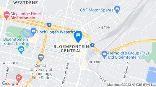 BON Hotel Bloemfontein Central Map