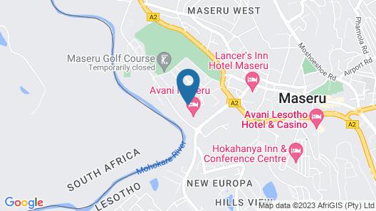 Avani Maseru Hotel Map