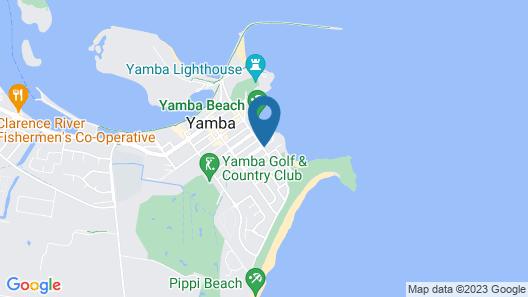 Yamba Beach Motel Map