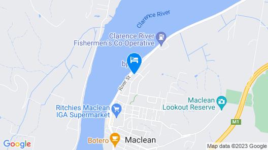 Waterview Motel Maclean Map