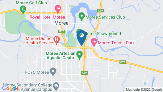 Econo Lodge Moree Spa Motor Inn Map