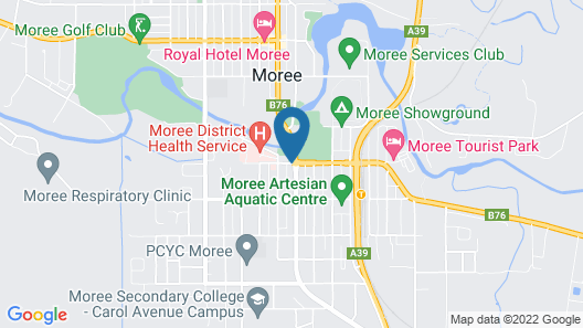 Alexander Motor Inn Moree Map