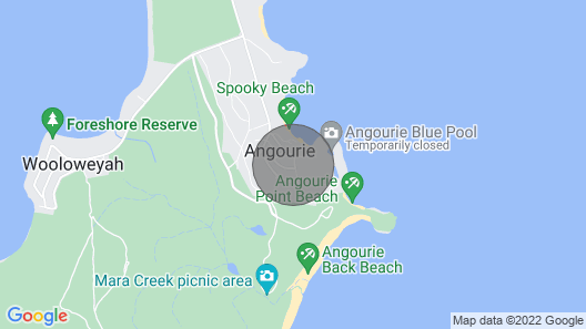 Angourie Beach House ,ocean Views,100m to Beach, Cafe,restraunt,swing &nat Park Map