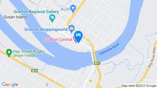 Fitzroy Motor Inn Grafton Map