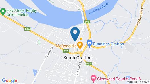 Heritage River Motor Inn Map