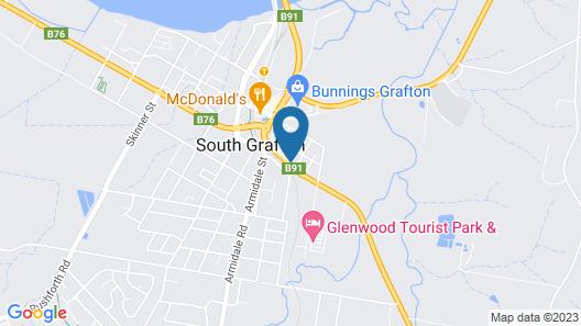 Hi-Way Motel Grafton Map