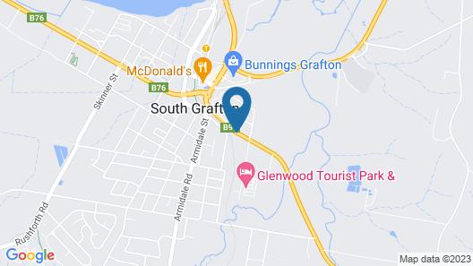 Grafton Lodge Motel Map