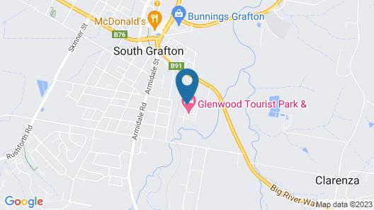 Glenwood Tourist Park & Motel Map