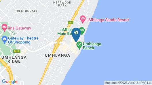 Executive Beachfront Apartments Map