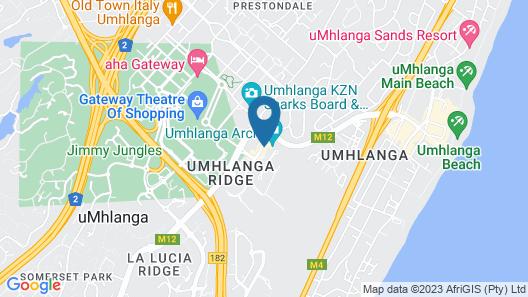 Hilton Garden Inn Umhlanga Arch Map