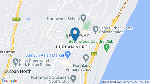 Cozy Nest Guest House - Durban North, Natal Map