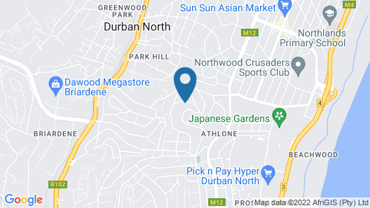Durban North Lifestyle Guesthouse Map