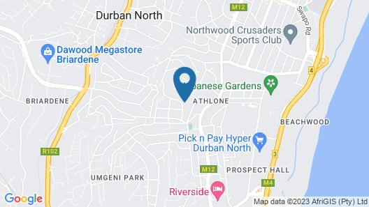 Durban North Sea View Map