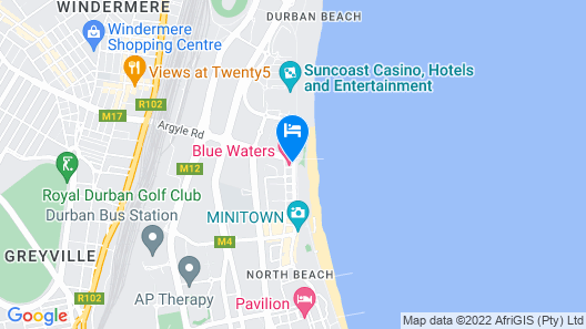 The Blue Waters Hotel Map