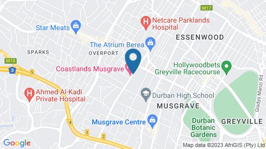 Coastlands Musgrave Hotel Map