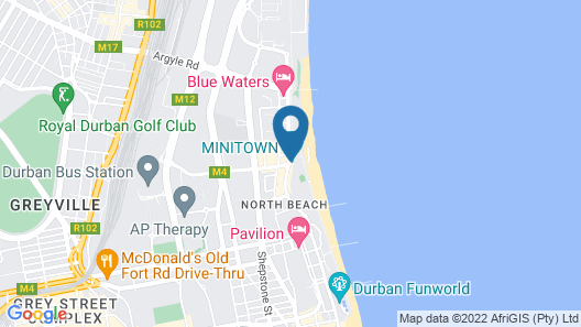 Southern Sun North Beach Map