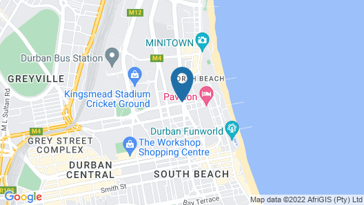 ONOMO Hotel Durban Map