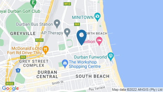 City Lodge Hotel Durban Map