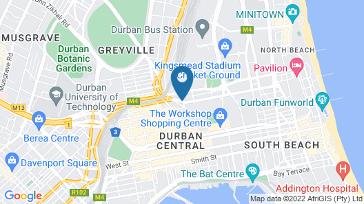 Road Lodge Durban Map