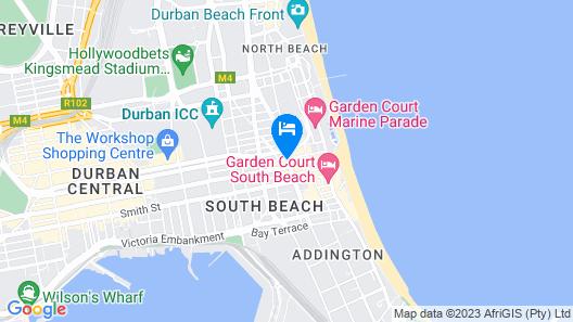 Metro Lodge Beach Map