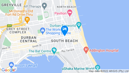 Bayside Hotel 100 Map