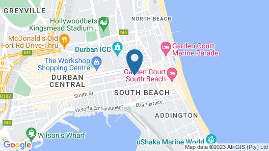Bayside Hotel 116 Map