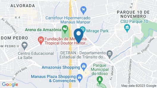 Amazonas Flat Map